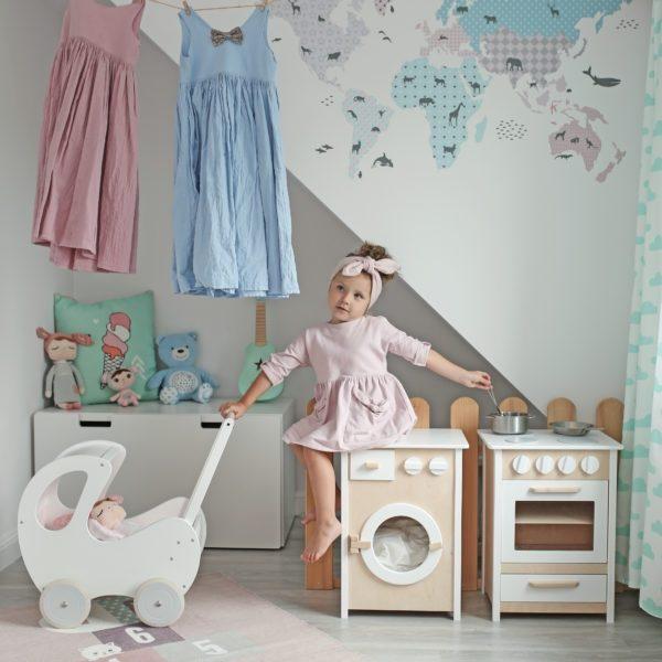 Drevená práčka