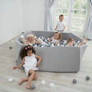 Suchý bazén pre deti štvorec 110x110x40cm + 400 guličiek