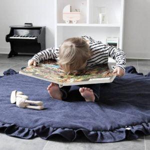 Detská podložka na hranie modrá