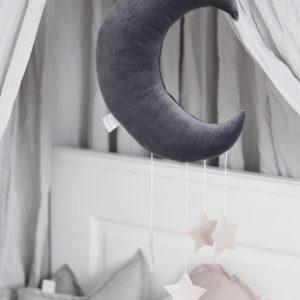 Dekoratívny mesiačik tmavý