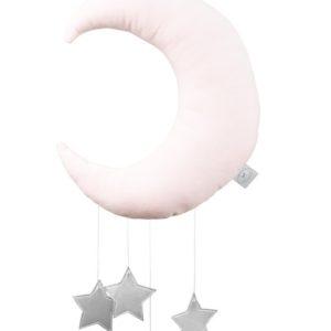 Dekoratívny mesiačik jemne ružový