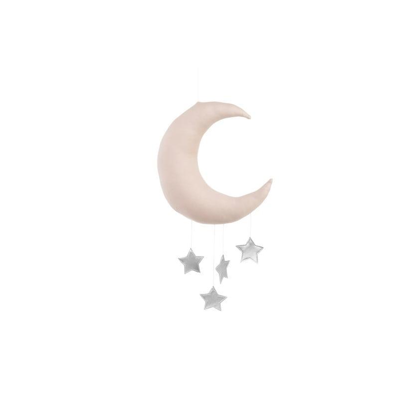 Dekoratívny mesiačik ružový