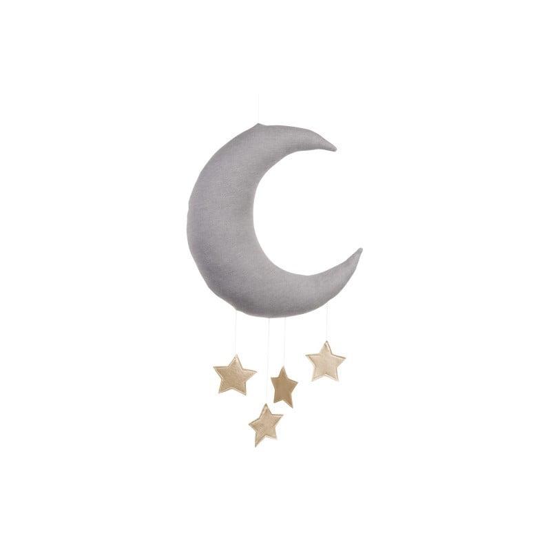 Dekoratívny mesiačik sivý