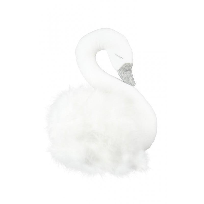 Dekoratívna labuť na stenu biela