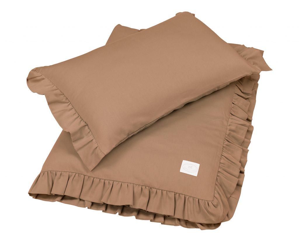 Dadaboom.sk Sada do postele s volánom čokoládová