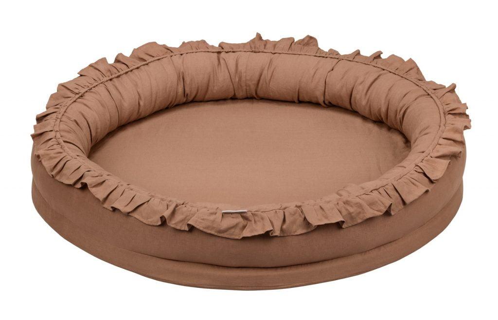 Dadaboom.sk Ľanové hniezdo pre deti čokoládová