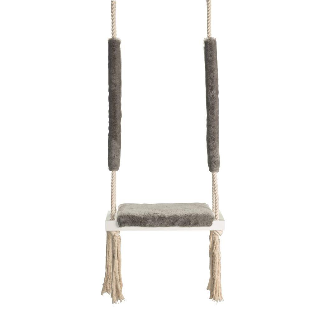 Dadaboom.sk Drevená hojdačka – sivá