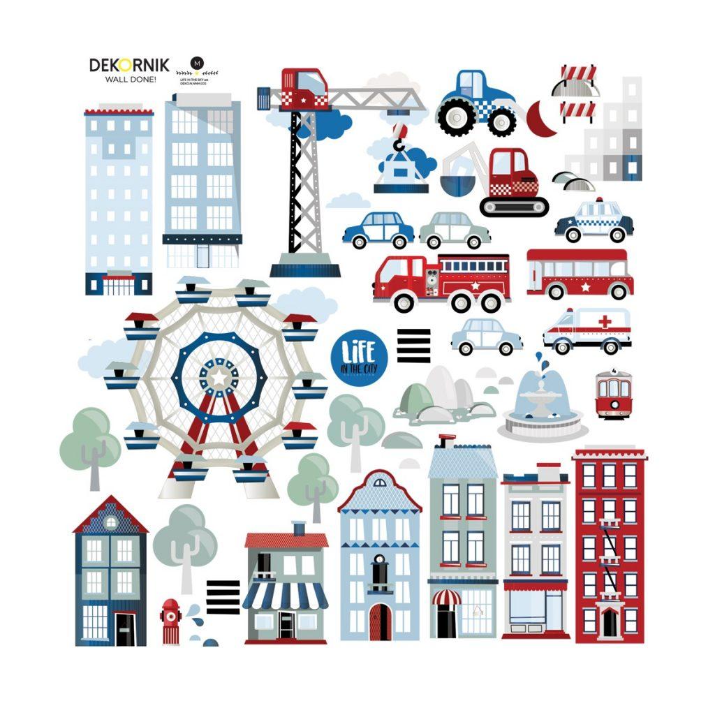 Dadaboom.sk Set samolepiek Dekornik- Life in the City