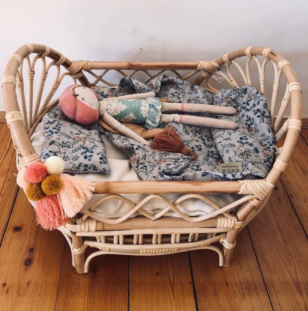 Dadaboom.sk Ratanová poschodová posteľ pre bábiky